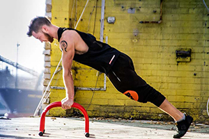 Parallettes push ups starting position